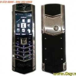 www.123nhanh.com: Vertu Signature S Design Bạc Da Đen SUPER FAKE GIÁ RỂ